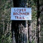 The only trail sign I got to see