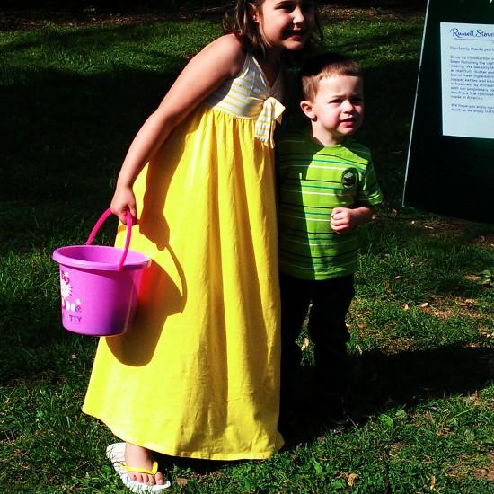 Emmie & Miles are Ashley's children, the boys' niece & nephew