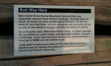 """We looked for """"Bob"""" everywhere but could not find his name."""