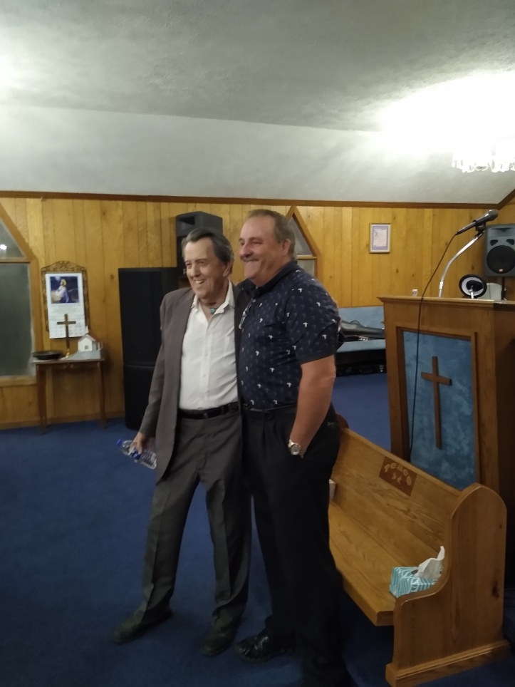 Jim Hensley with Rev Charlie McClure