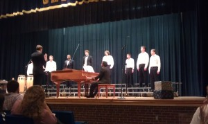 Cole's Chorus Concert (he's in the middle)