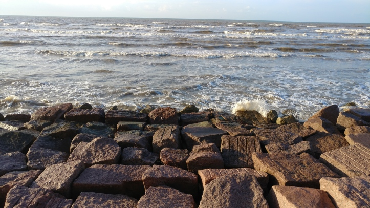 Foot of the Galveston Seawall