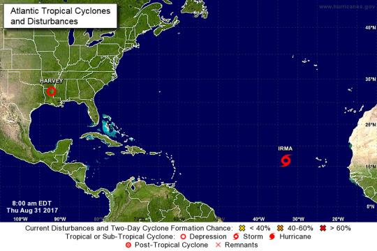 Irma Location courtesy of NOAA