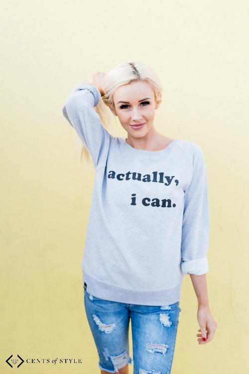 ican sweatshirt Cents of Style