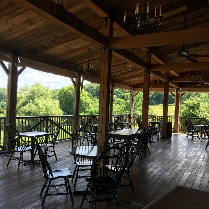 Gibbet Hill outdoor dining in Groton Massachusetts